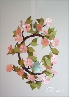 Tree Limb and Bird Mobile Baby Mobile Nursery by fischtaledesigns