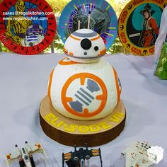 3D BB-8 Cake | Sculpted BB8 Cake | by The Regali Kitchen