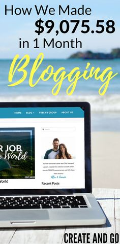 How we made $9,075.58 in 1 month blogging! And we did it all with $0 in ad spend on FREE traffic with Pinterest! Learn how to start a blog and make money online at http://createandgo.co/may-income-report/