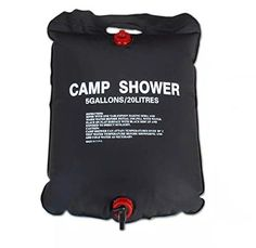 Winsdom tree 5 Gallon/20 Litter Camping Hiking Light Weight Solar Heated Camp Shower Bag with On/ Off Nozzle *** Be sure to check out this awesome product.