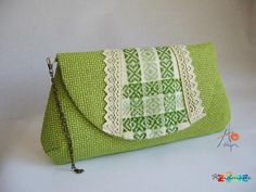 Poseta Green etno Handmade Bags, Shoulder Bag, Purses, Green, Handbags, Handmade Purses, Shoulder Bags, Wallets, Wallet
