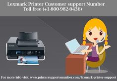 If you are facing Any kind of problem with Lexmark printer then get quick support from Printersupportsnumber by dialling toll-free Lexmark Printer customer support number 1-800-982-0436 for help.