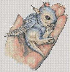 Free Stuff: Baby Dragon In a Hand Cross Stitch Pattern FREE SHIP??? - Listia.com Auctions for Free Stuff
