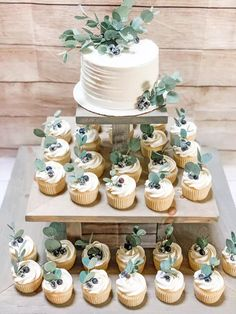 Perfect Wedding, Our Wedding, Dream Wedding, Sage Wedding, Wedding Gifts For Guests, Wedding Rings, Wedding Cakes With Cupcakes, Cupcake Cakes, Rustic Wedding Cupcakes