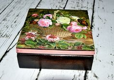 Szkatułka Kosz kwiatów w Handmade with love by daria na DaWanda.com