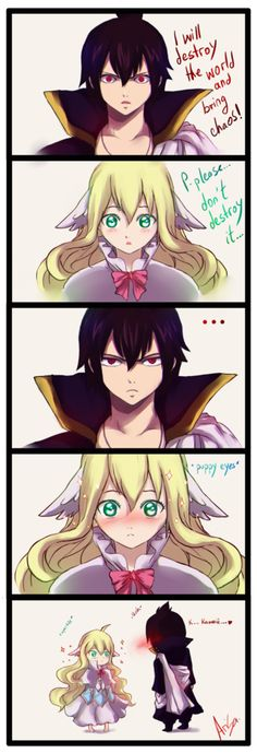My comic o-o/ .had this in mind yesterday when I went to bed xD What can I say. - Zeref: 0 xD I don't read manga.and who wouldn't fall for that loo. sayings cheesy Fairy Tail: Zeref - Mavis comic by on DeviantArt