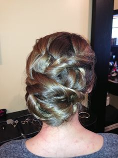 Thick long hair updo (Lori Thompson)
