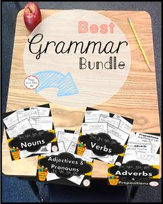 This Fun Grammar Bundle includes: Nouns, Verbs, Adjectives, Pronouns, Adverbs, and Prepositions! Everything you need in one place! 2nd, 3rd, 4th, 5th, 6th