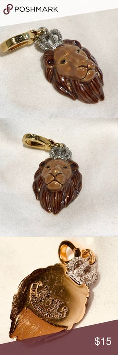 Jay Strongwater charm Jay Strongwater charm. Lion head. Can be used as necklace, on a bracelet, a zipper pull.  Great gift! Jay Strongwater Jewelry