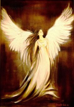An angel with brown hair! Angel Images, Angel Pictures, Angels Among Us, Angels And Demons, Fantasy Kunst, Fantasy Art, Engel Tattoo, Angel Artwork, Angel Drawing