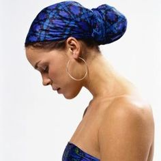 A head scarf that coordinates with your outfit can help you look put together.