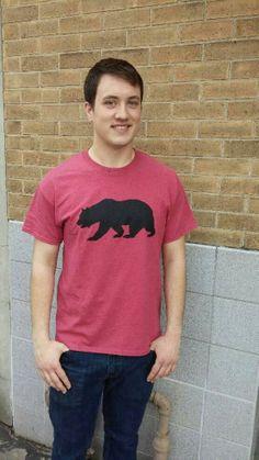 Men's T-shirt red- Short sleeve - spring style fashion @ Black Bear Trading Asheville N.C.