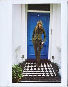 Jane Birkin. Effortless chic. And a totally cool TARDIS blue door.