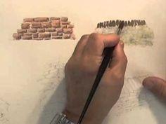 Watercolour Building Lesson - Stone Built Buildings - YouTube