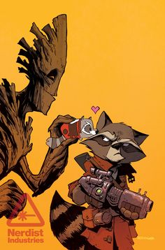 Marvel Tsum Tsum Variant Cover - Rocket Raccoon and Groot #8 by Brian Kesinger