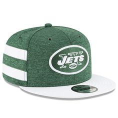 Men s New York Jets New Era Green White 2018 NFL Sideline Home Official 9FIFTY  Snapback 9600aa990