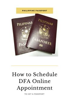 If you're one of the Filipinos who are interested to reach your travel goals but haven't applied for a passport yet or need to renew your passport, this one is for you. Here, you'll learn how to set a DFA online appointment to apply for a Philippine passport! We have also included all of the DFA Philippine passport requirements for your DFA application. Renewing Your Passport, Getting A Passport, Philippines Travel, Travel Goals, Appointments, How To Apply, Messages, Learning