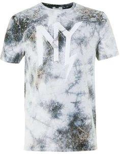 Grey NYC Print Tie Dye T-Shirt