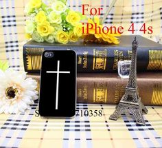 christian cross black Clear Phone Case Hard Case Cover for iPhone 6 6s 6 Plus 4 5