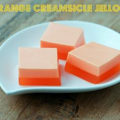 Orange Creamsicle Jello Recipe by Storie - Key Ingredient Jello With Cool Whip, Recipes With Cool Whip, Cool Whip Desserts, Easy Desserts, Fluff Desserts, Baking Desserts, Baking Recipes, Jello Deserts, Jello Dessert Recipes