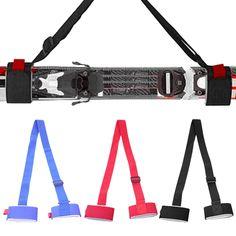 Adjustable Ski Board Fixed Strap Shoulder Pole Carrier Lash Holder Sling 3 Color Snowboard Bindings, Snowboards, Winter Sports, Braces, Bag Accessories, Skiing, Skateboard, Handle, Shoulder Bag