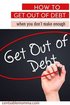 You desperately want to get out of debt, but you just don't think you make enough money to dig yourself out of the hole of debt you find yourself in. Check out these 5 tips to help you get started on your journey to paying off debt even with a low income. #debtfree #financialplanning