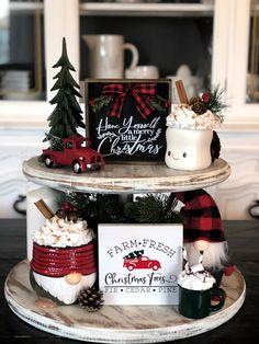 Fresh Christmas Trees, Merry Christmas Sign, Merry Little Christmas, Plaid Christmas, Christmas Design, Christmas Holidays, Christmas Crafts, Etsy Christmas, Christmas Wood
