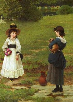 """The Town and Country Mouse"" -- by George Dunlop Leslie (English, 1835--1921)"