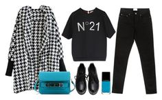 """""""Houndstooth cardigan"""" by thestyleartisan ❤ liked on Polyvore featuring N°21, Proenza Schouler, Acne Studios, women's clothing, women, female, woman, misses and juniors"""