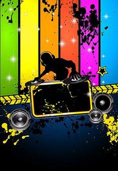 Djs gustavo y cabrero Dj michel Dj tractori Rock Background, Black Background Wallpaper, Party Background, Seamless Background, Background Images, Flower Phone Wallpaper, Music Wallpaper, Music Backgrounds, Colorful Backgrounds