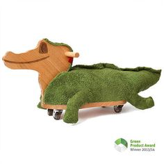 Babyrutscher Krokodil - Edition Eiche Das zeitlose Design mit der schlichten…