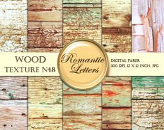 Digital Paper Old Wood Texture Digital Scrapbook Wood