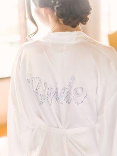 Bride getting ready robe