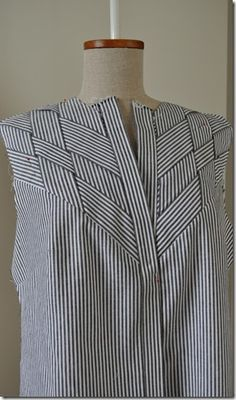 Blouse with woven strips of fabric – part 5 (Sigrid - sewing projects)