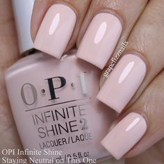 """275 Likes, 3 Comments - Anne (@grapefizznails) on Instagram: """"@opi_products Staying Neutral on This One from the new Infinite Shine Nuances of Neutral Summer…"""""""