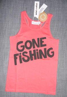"""NY Mini Rodini linne """"gone fishing"""" str 116 / 122"""