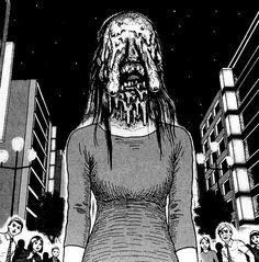 Junji Ito is a famous horror manga artist best known for creating Uzumaki but he has some Japanese Horror, Japanese Art, Arte Horror, Horror Art, Manga Gore, Dibujos Dark, Ero Guro, Manga English, Alien Concept Art