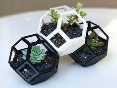 Plantygon Set 3 pack A 3D Printed Modular Stacking Geometric