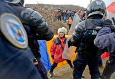 Anti Fracking, Shale Gas, Riot Police, Energy Companies, Peaceful Protest, Fences, Human Rights, Romania