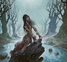Selkie- Scottish myth: these are take the form of seals when in the ocean but when on land they shed their skin to become a human. If the skin is stolen then they can't return to seal form or to the sea which means they are stuck with whoever stole their seal skin.