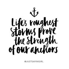 No one sees the quality of your anchor on the surface until the storms hit and…