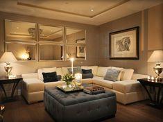 30+ Wonderful Living Room Mirror Decoration Ideas mirror instead of window