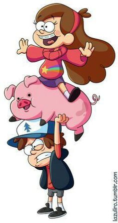 Mabel, Waddles and Dipper from Gravity Falls! Gravity Falls Dipper, Gravity Falls Poster, Gravity Falls Art, Cartoon Wallpaper Iphone, Cute Disney Wallpaper, Cute Cartoon Wallpapers, Kawaii Disney, Disney Art, Disney Drawings
