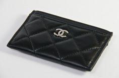 Chanel Black Caviar Card Holder