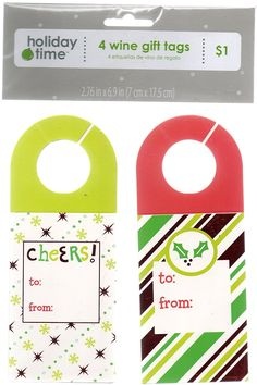 4 Wine Gift Tags (Holiday) * To view further for this item, visit the image link.