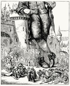 Gulliver in Lilliput    T. Morten, from English illustration, 'the sixties' : 1857-70, by Gleeson White, London, 1903.