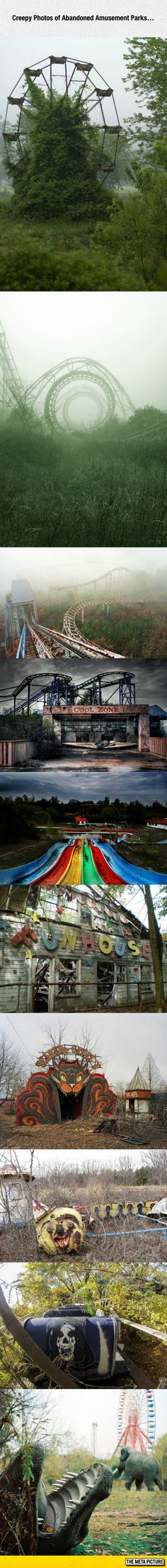 Abandoned Amusement Parks- this looks like a place where clowns meet....