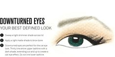 Downturned Eye makeup placement DEFINED LOOK