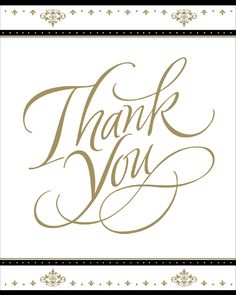 Gold Wedding Thank You Cards