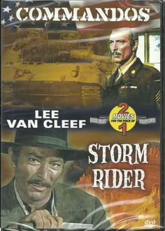 Commandos/Storm Rider DVD--Lee Van Cleef-- 2 movies for the price of one